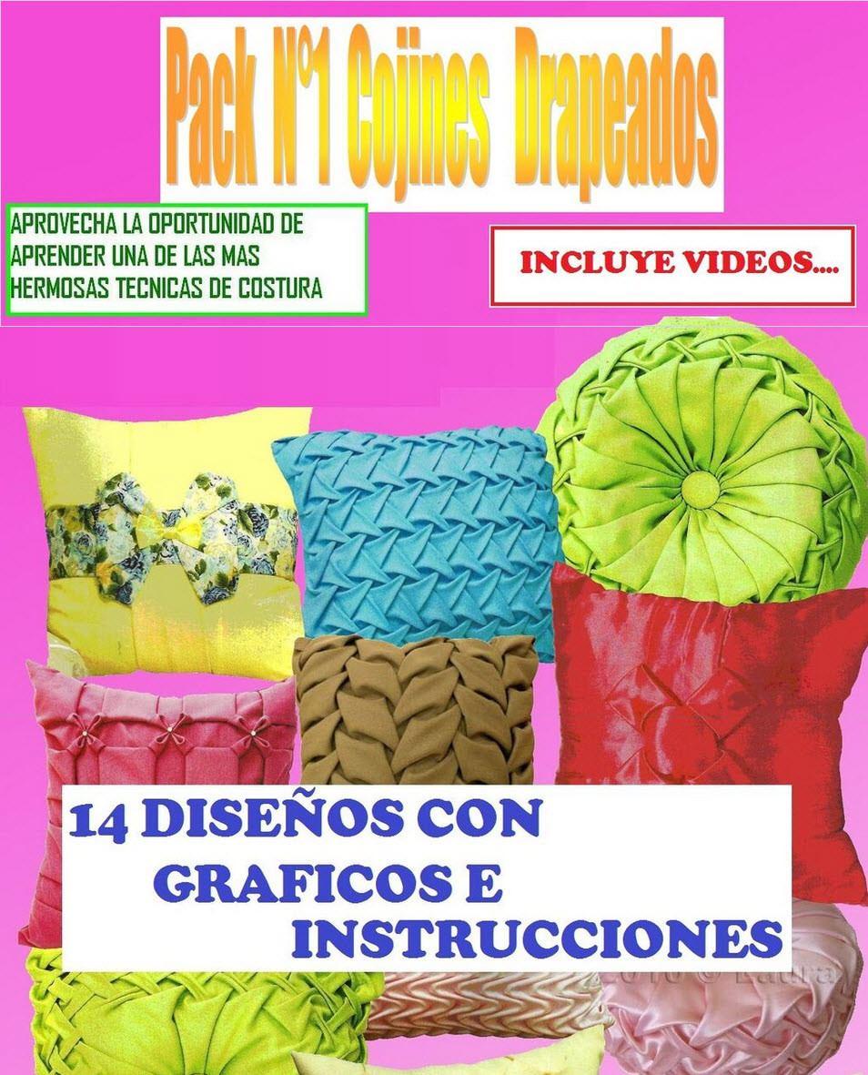 Cojines Drapeados O Capitone   Volumen 1   $ 2.000 en Mercado Libre