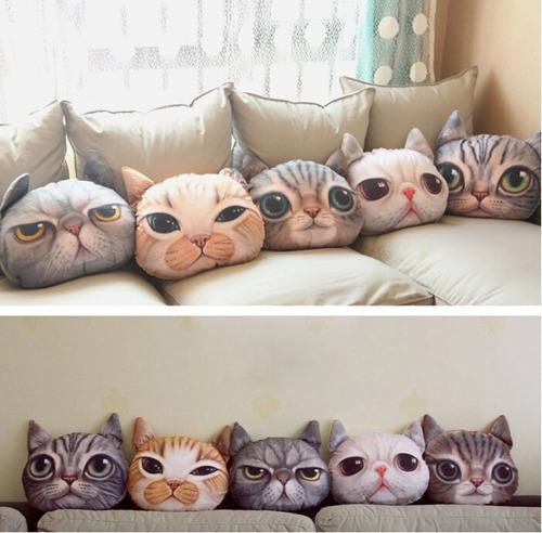 cojines en forma de gato almoada cat perro dog animales