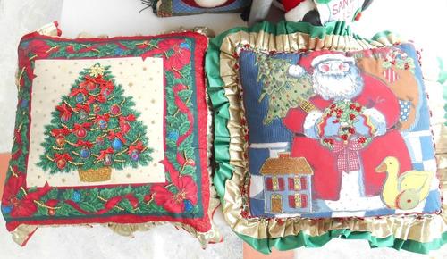 cojines navideños decorativas adorno santa y arbol navidad
