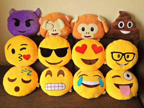 cojines peluche emoticones emoji caritas 35 cm fotos reales