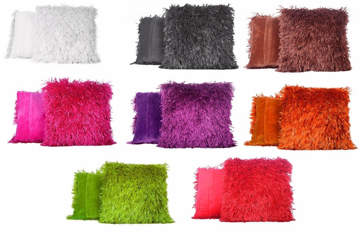 Cojines peludos relleno poli ster 50x50 varios colores en mercado libre - Relleno para cojines ...
