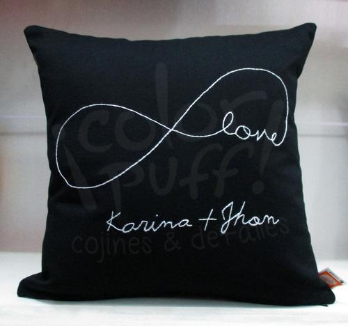 cojines personalizados nombre infinito love amor enamorados