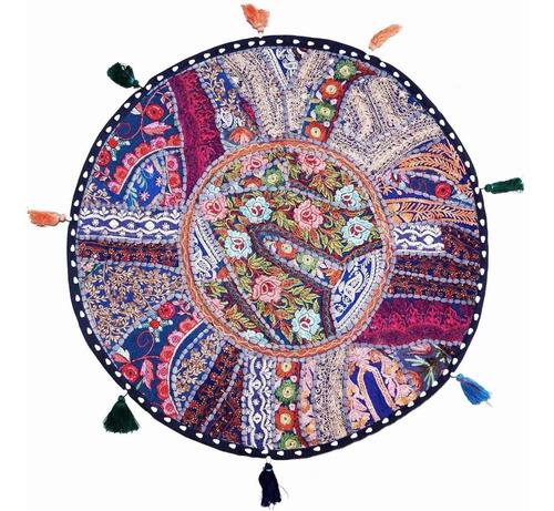 cojines shabby chic india (patchwork) 22pulg-56cm diámetro