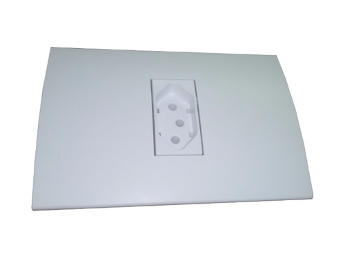 cojunto de tomada 2p+t 10a padrão branco linha clean