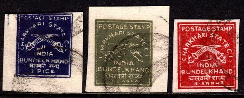 col 04642 charkhari 16/17+20 estados principescos da índia u