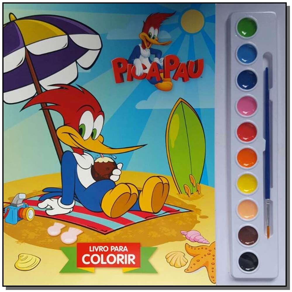 Col Aquarela Pica Pau Livro Para Colorir R 12 94 Em