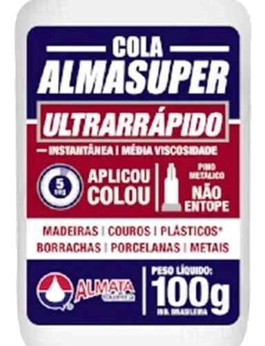 cola almasuper 100g p/ madeira marcenaria couro plastico