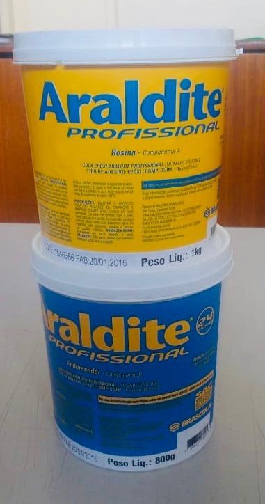 Cola Araldite Profissional Epóxi Cola 1,8kg - 24hrs