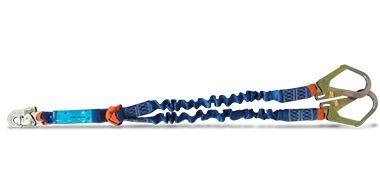 cola de amarre1,5m doble elastizada c/amortiguador y mosquet