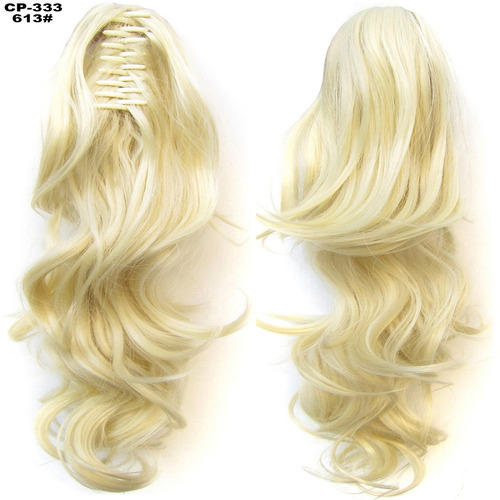cola de cabello de clip gruesa para mujer como cabello