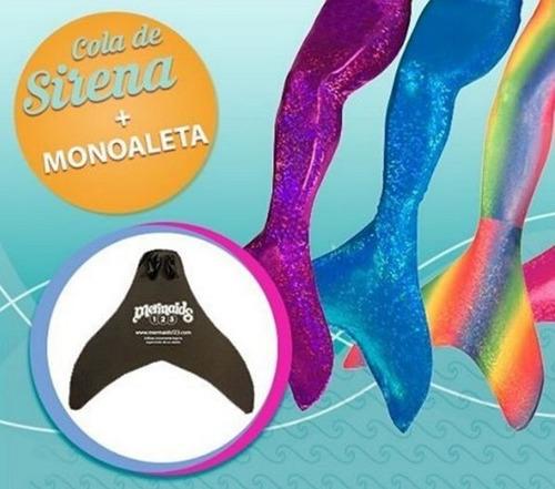 cola de sirena y monoaleta mermaids123 azul encantado