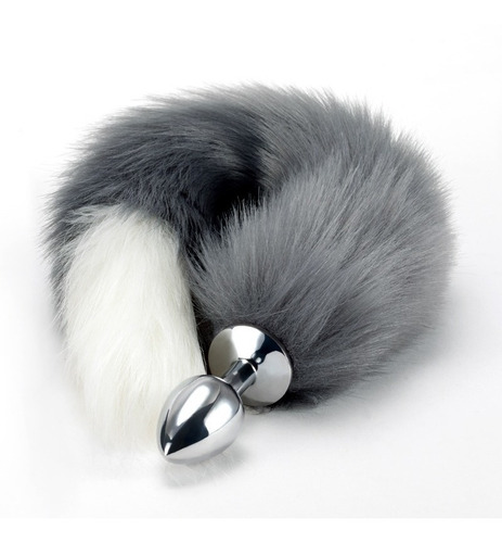 cola de zorro butt plug de acero alta calidad