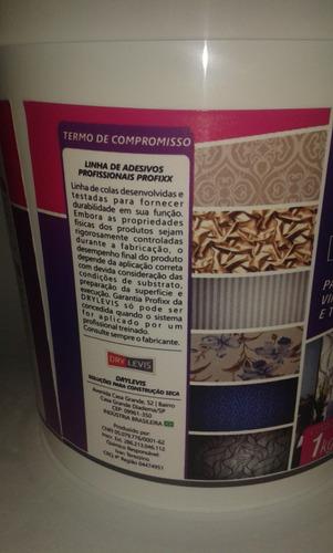 cola líquida papel parede / rev vinílico 1kg grátis espátula