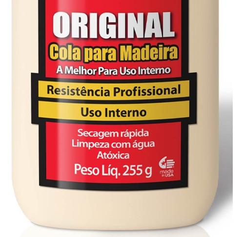 cola original p/ madeira wood 255g 6026101 titebond + pincel