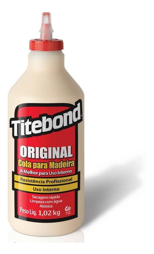 cola original p/ madeira wood glue 1,02 kg 6004531 titebond