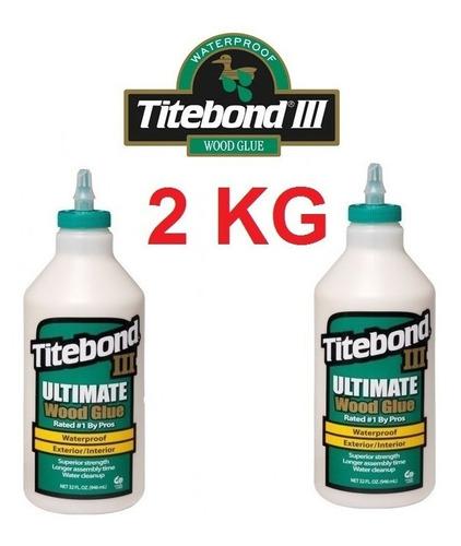 cola p/ madeira titebond 3 ultimate kit c/ 2kg promoção