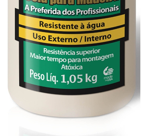 cola p/ madeira ultimat 1,05kg 2pç 6004529 titebond + pincel
