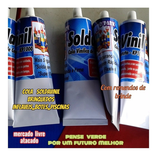 cola para barco inflavél soldavinil bisnaga com 300ml+brinde