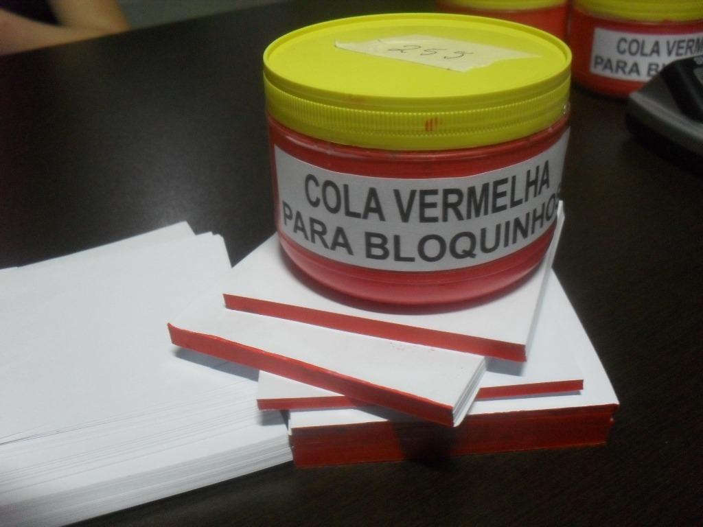 Cola para blocos de papel ou bloquinhos r 11 00 em - Cola para pegar papel ...