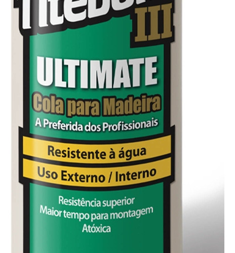 cola para madeira ultimate wood glue 525g 6004528 titebond