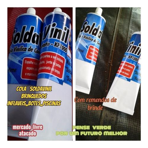 cola p/brinquedos inflavéis soldavinil tobogã castelo+brinde