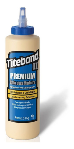 cola premium wood glue para madeira 516g 6006213 titebond
