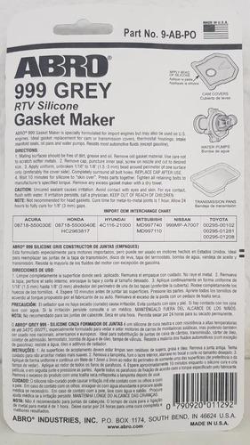 cola silicone vedante junta motor abro grey 999 85gr