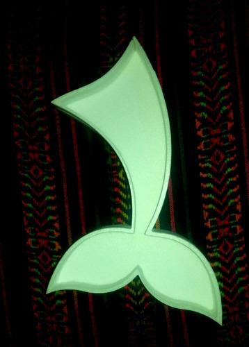 cola sirena figuras huecas 20cm polyfan belgrano letras nemo