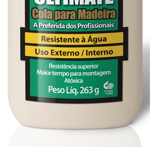 cola ultimate wood glue para madeira 263g 6028325 titebond