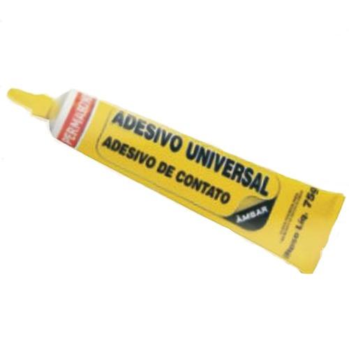 cola universal (cx com 5) super adesivo contato  75g