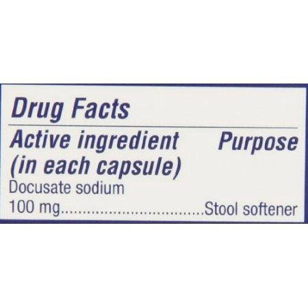 colace docusato de sodio ablandador de heces de 100 mg, 60