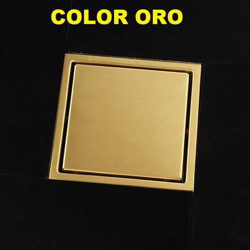 coladera 15x15 colores acero inox. sus304, para 2 pulgadas