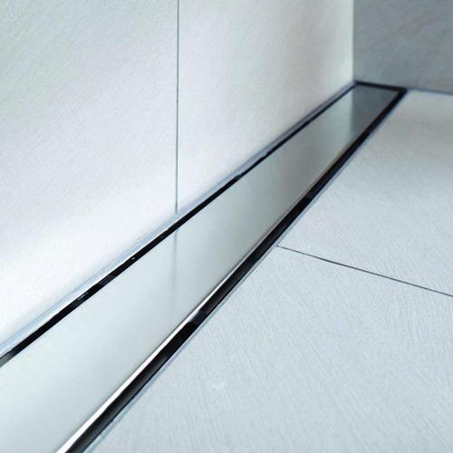 coladera lineal de lujo 100 cm doble vista acero inoxidable