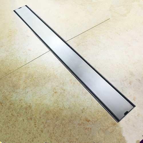 coladera lineal de lujo 60 cm doble vista acero inoxidable