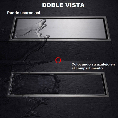 coladera lineal para baño doble vista, 30x11 pichancha