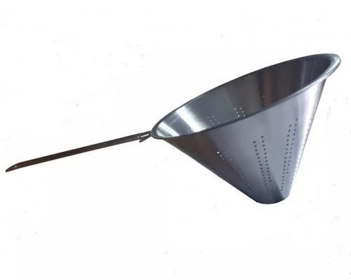 colador chino de acero inoxidable de 24 cm de diametro