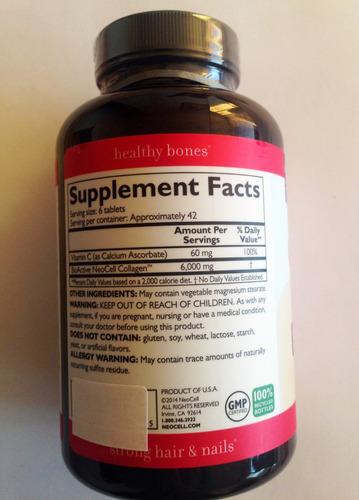 colageno 1 y 3 + vitamina c  x 250 ta - unidad a $3