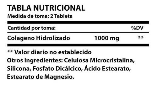 colageno - 500mg - 60 tabletas (distribuidor autorizado)