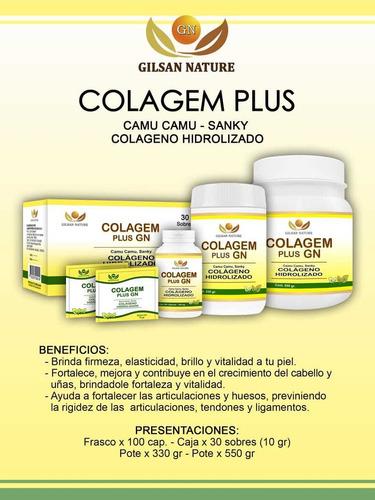 colágeno + camu camu + sanky 100cap (colagem)