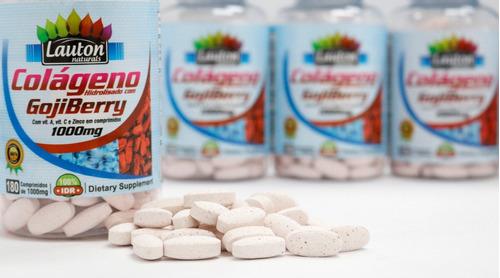 colageno com goji berry 1000mg por tablete 180 tabs - lauton