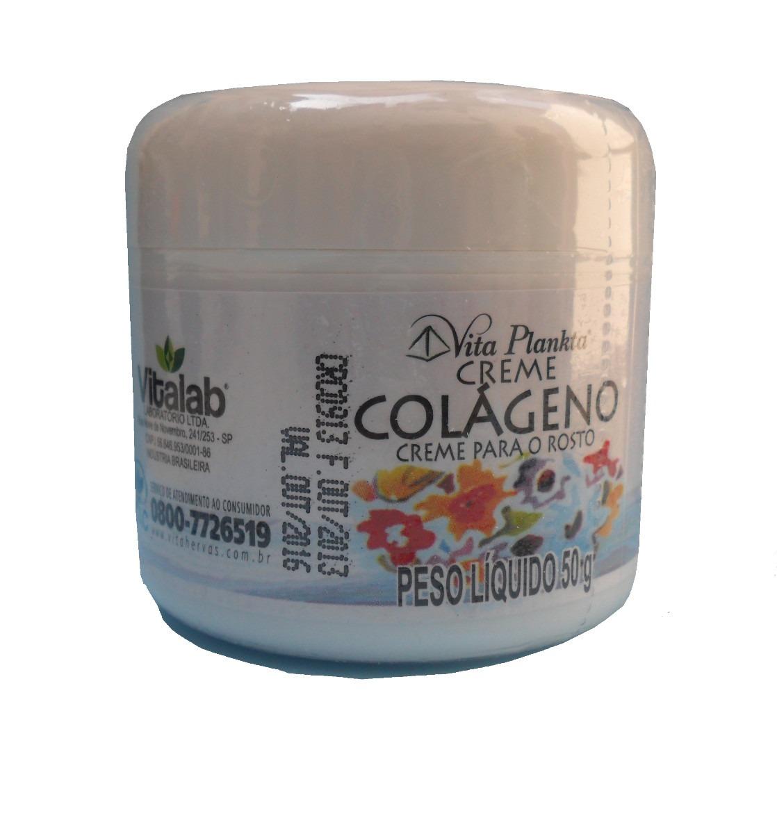 Colágeno Creme Hidratante Rosto Pele 50gr R$ 35,90 em Mercado Livre