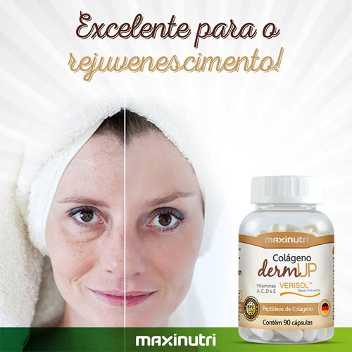 colágeno dermup verisol® maxinutri 750mg 3x90 - 270 cápsulas