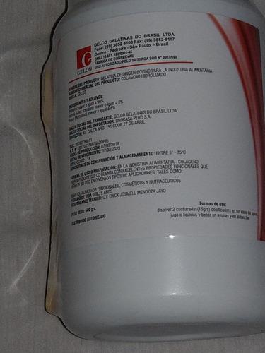 colageno doblemente  hidrolizado gelco  500 grs tipo 1 y 2
