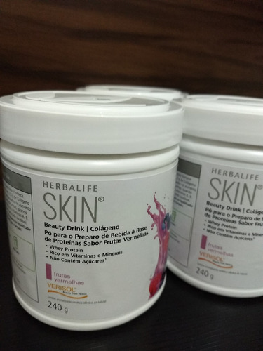 colágeno herbalife 3 unidades tira fome emagrece+brinde