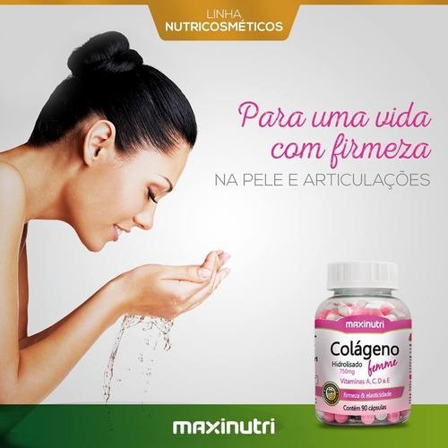 colágeno hidrolisado femme + vitaminas a, c, d, e - 90 cáps