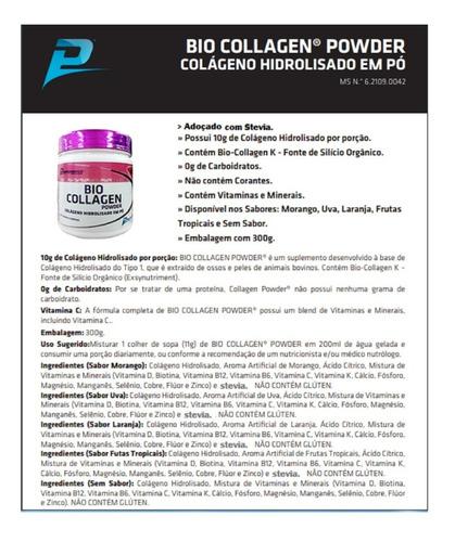 colageno hidrolisado tipo 1 natural performance 300g 6und