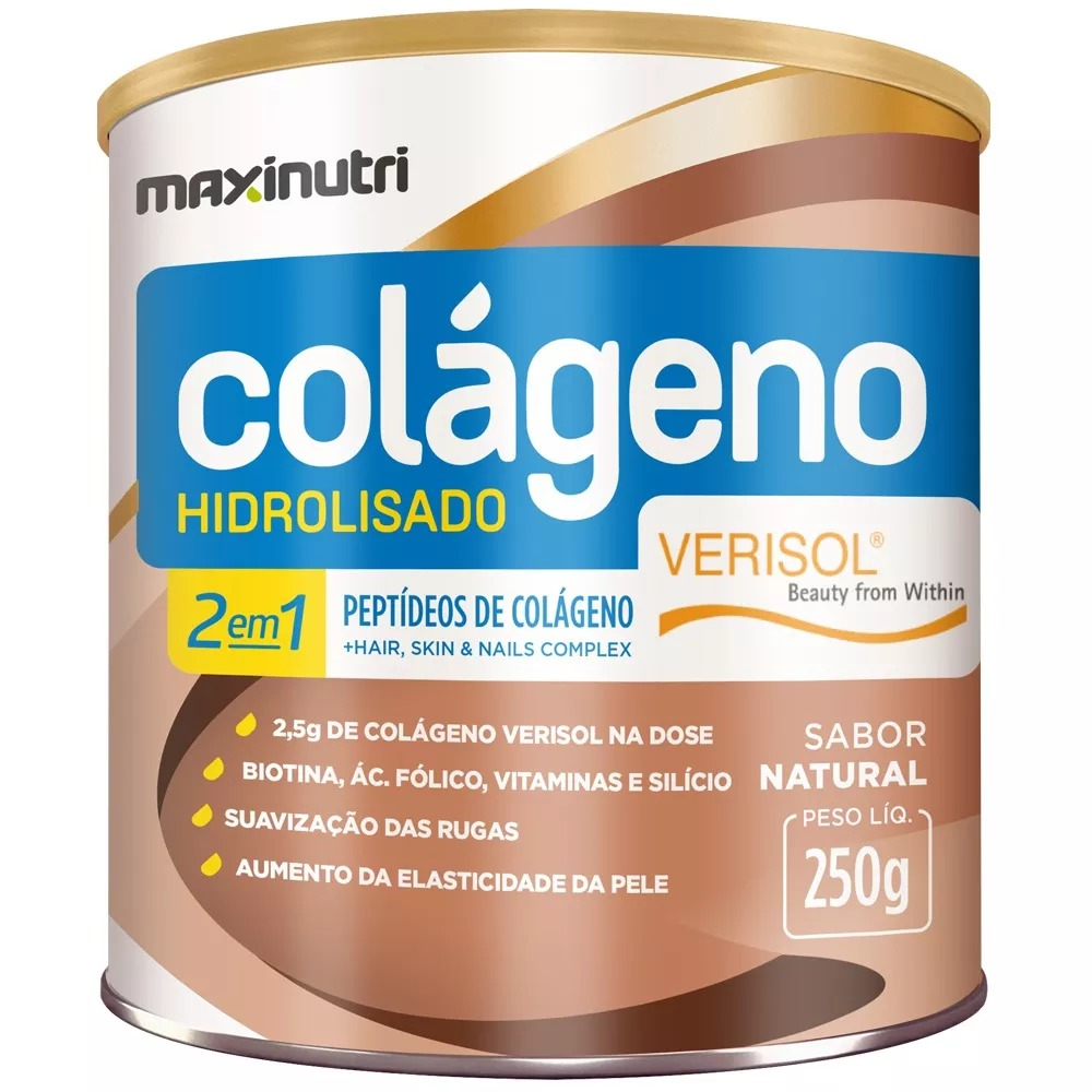 ad1c24192 Colágeno Hidrolisado Verisol 2 Em1 Antirrugas 250g Maxinutri - R  45 ...