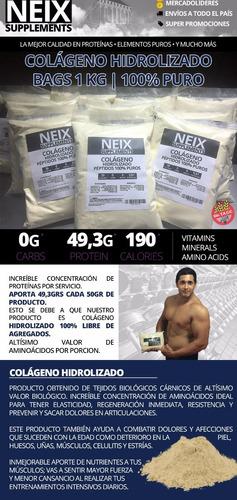 colágeno hidrolizado 1 kg 100% puro péptidos anti age oferta