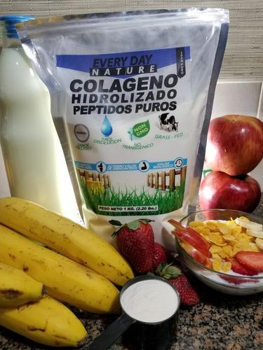 colageno hidrolizado 1 kg + cloruro de magnesio combo gratis