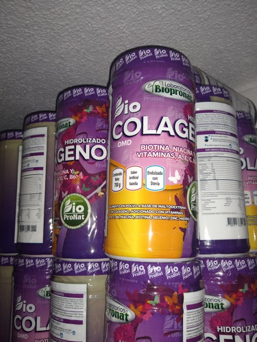 colageno hidrolizado biocolageno 700 gr biopronat